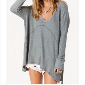 Tops - Free people light grey knit top